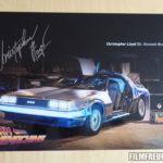 Autogramm von Christopher Lloyd auf Bildplatte vom Team Timemachine