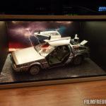Der DeLorean mit Foto-Hintergrund