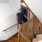 Treppe, über die Marty die Bühne verlässt