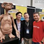 Unser E.T. mit Henry Thomas (Elliott), Robert MacNaughton (Michael) und mir