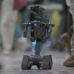 Original-Spielzeugroboter im Film