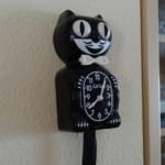 Unsere Kit-Cat-Clock hängt in der Küche