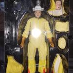 Marty im Strahlenschutzanzug