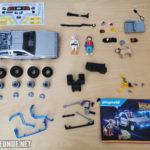Einzelteile des DeLorean-Sets