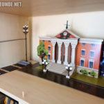 Papp-Courthouse aufgebaut