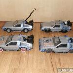 Alle 4 Versionen des Playmobil-DeLoreans