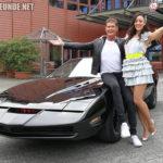 David Hasselhoff und Blümchen mit meinem K.I.T.T. beim ZDF-Fernsehgarten 2019