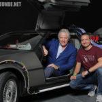 Tom Wilson (Biff Tannen) im ZidZ-DeLorean