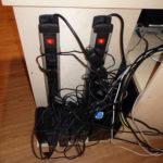 Platz für 8 externe Festplatten des Videosystems