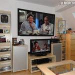 """Mein Heimkino (65""""-TV) mit Fanartikeln 2012"""