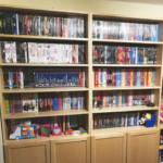 DVD-Regal früher im Essbereich